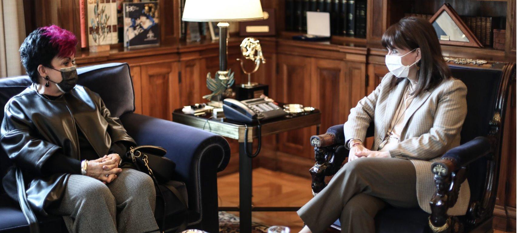 Συνάντηση με την Πρόεδρο της Δημοκρατίας πραγματοποιήσε η Πρόεδρος της Εταιρείας Alzheimer Αθηνών